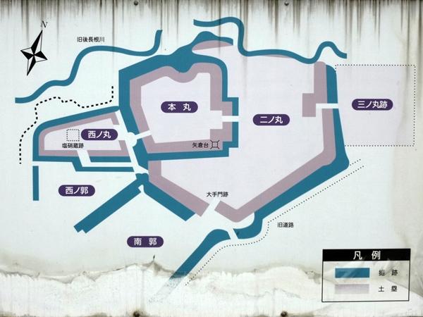 大浦城地図