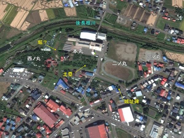大浦城地形図