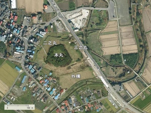 堀越城地形図