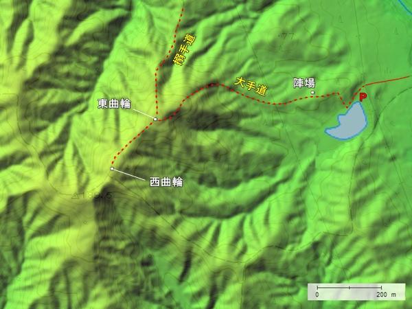 尻八館地形図