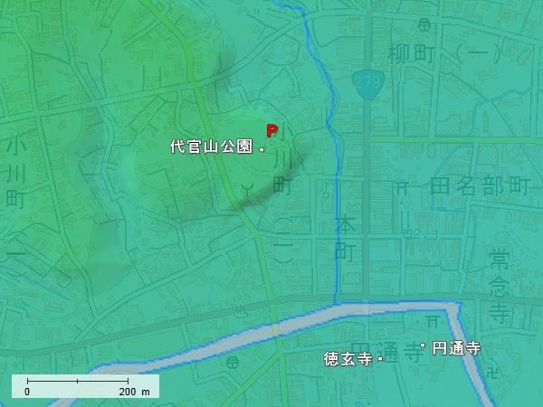 田名部館地形図