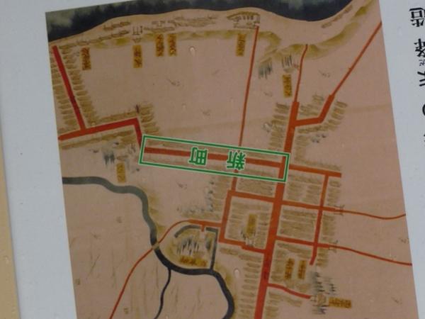 野辺地城古地図