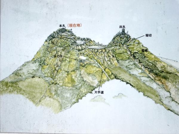 戸倉城地図