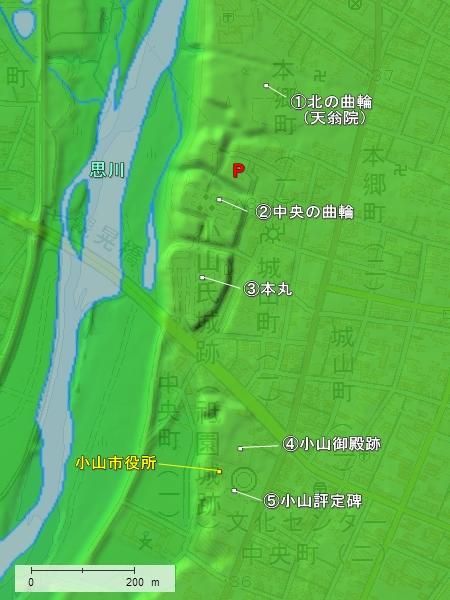 祇園城地形図