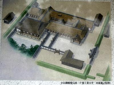 祇園城_御殿復元図