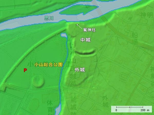 鷲城地形図