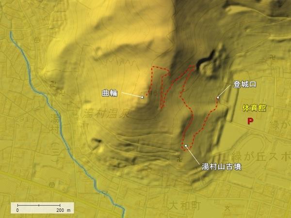 湯村山城地形図