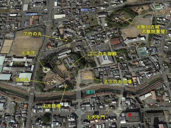 掛川城俯瞰図