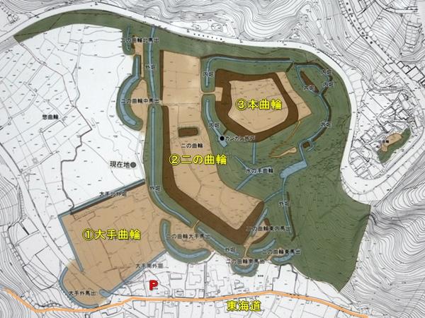 諏訪原城地図
