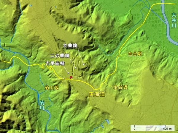 諏訪原城地形図