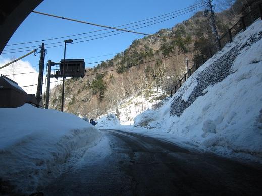釜トンネル出口