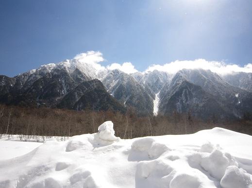 霞沢岳方向