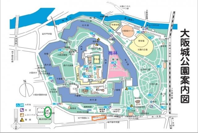 大阪城公園map