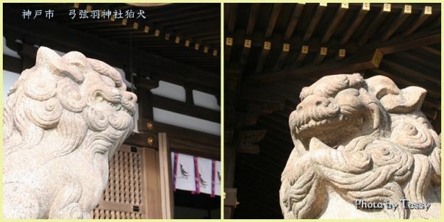 弓弦羽神社 狛犬