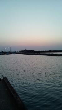 岩瀬港日没