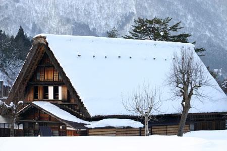 景色が素晴らしいと有名な世界遺産 白川郷でも一番綺麗な季節は冬と言れております~水墨画のような雪景色です~⑩