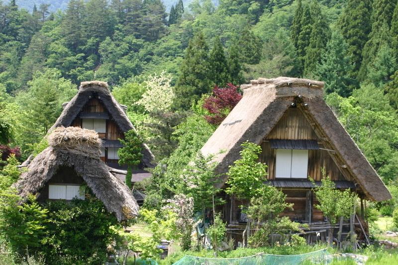 梅雨の季節こそ世界遺産 白川郷へ… 雨に洗われて輝く緑のグラデーション、合掌集落を華やかに彩る花々、 そして行楽シーズンでは味わうことができない静寂… ⑥