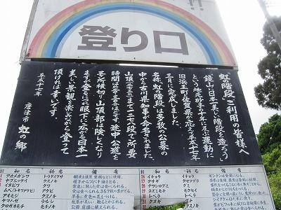 虹の階段看板