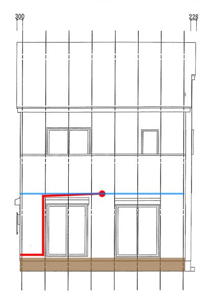 西側配管_天井の位置