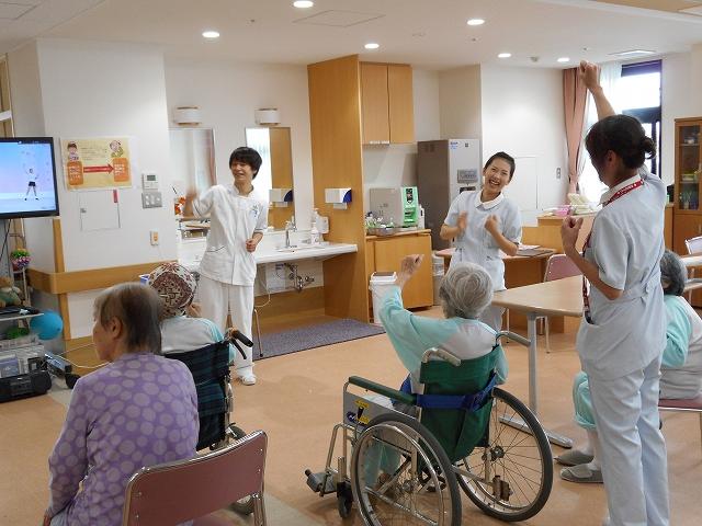 看護学生による体操