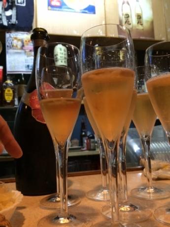 シャンパン、綺麗~!
