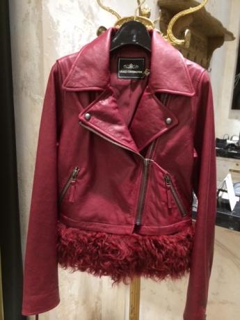 赤のレザージャケット!