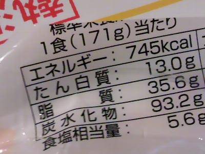 745キロカロリー