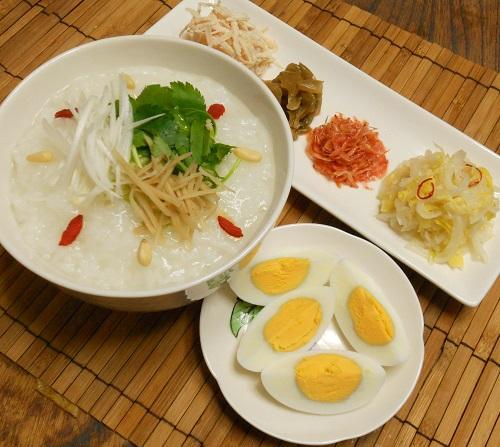 中華がゆ白菜の甘酢漬け塩たまご8