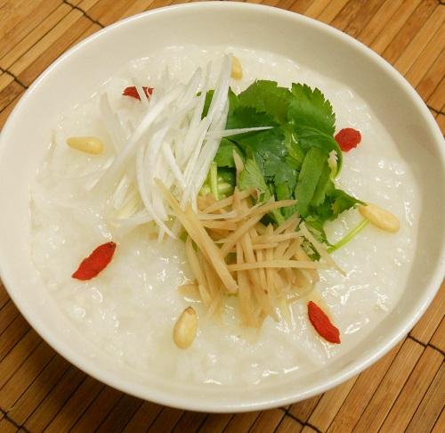 中華がゆ白菜の甘酢漬け塩たまご11