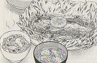 ずニジマスのホイル焼ききのこご飯図