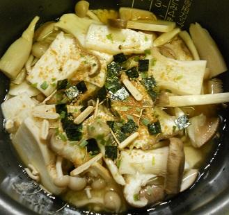 ニジマスのホイル焼ききのこご飯3