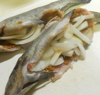 ニジマスのホイル焼ききのこご飯9