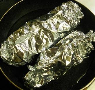 ニジマスのホイル焼ききのこご飯13