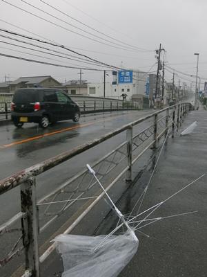台風11号接近1408