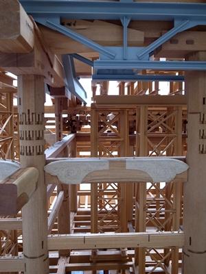 本願寺木組み模型1408