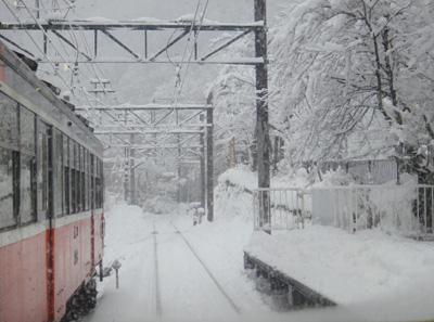 2014年2月14日 大雪の箱根登山鉄道