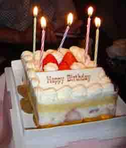 お店からいただいたケーキ♪還暦祝い