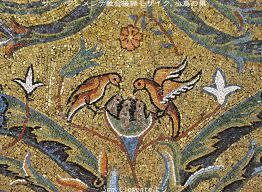 サンクレメンテ教会モザイク鳥の巣