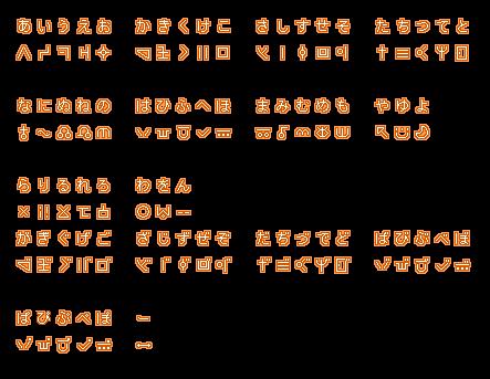 ベベルの絵「ベベル語五十音表」