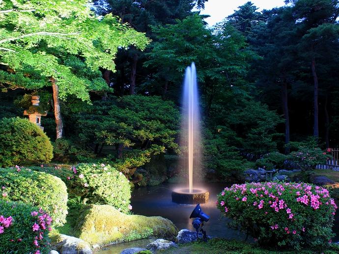 兼六園ライトアップ「初夏の段」 噴水