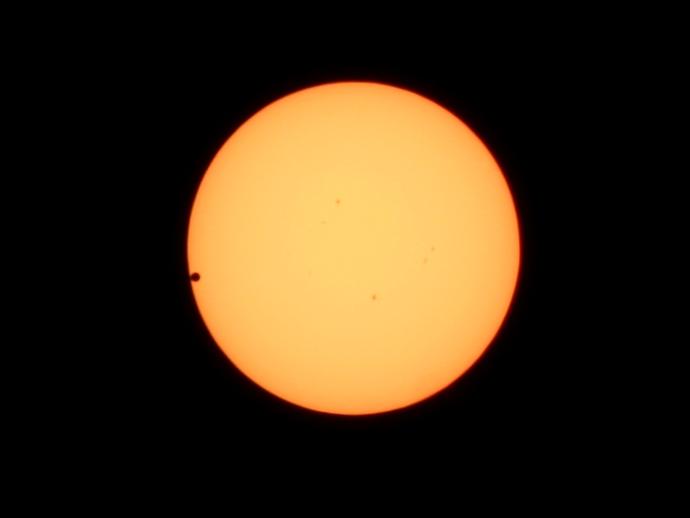 2012年金星日面通過 ブラックドロップ(第二接触)