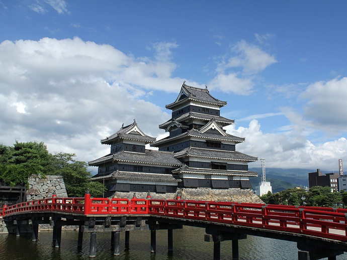 国宝松本城の天守閣