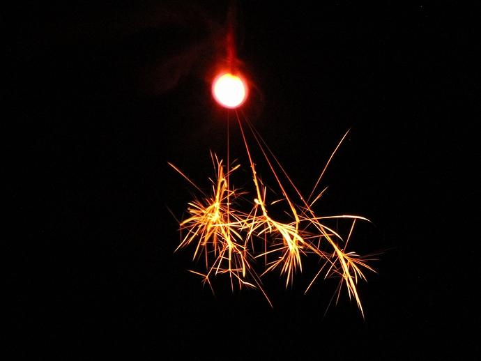 線香花火を撮ってみた
