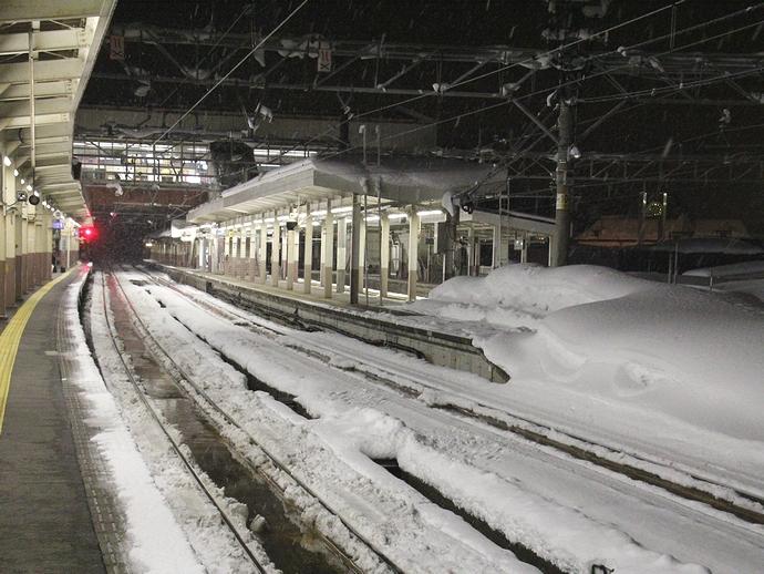 越後湯沢はまだ真冬です!
