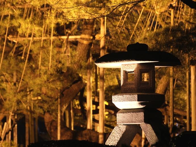 兼六園ことじ灯籠のライトアップ(春の特別開催)