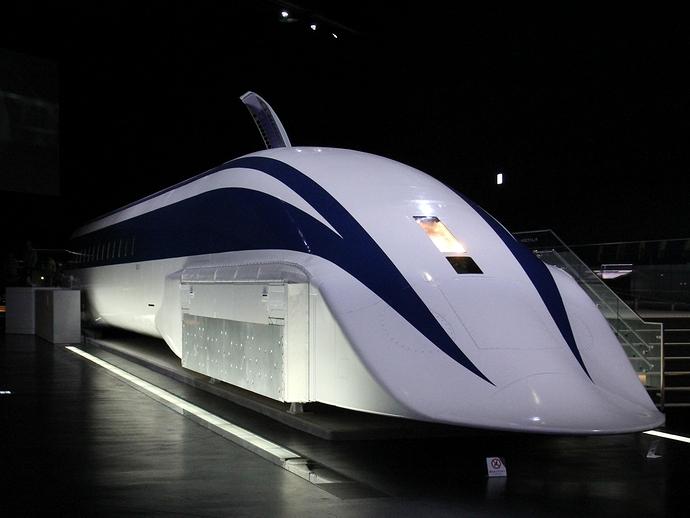 リニア・鉄道館に展示されているMLX01