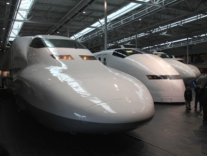 歴代のJR東海新幹線車両(リニア・鉄道館)