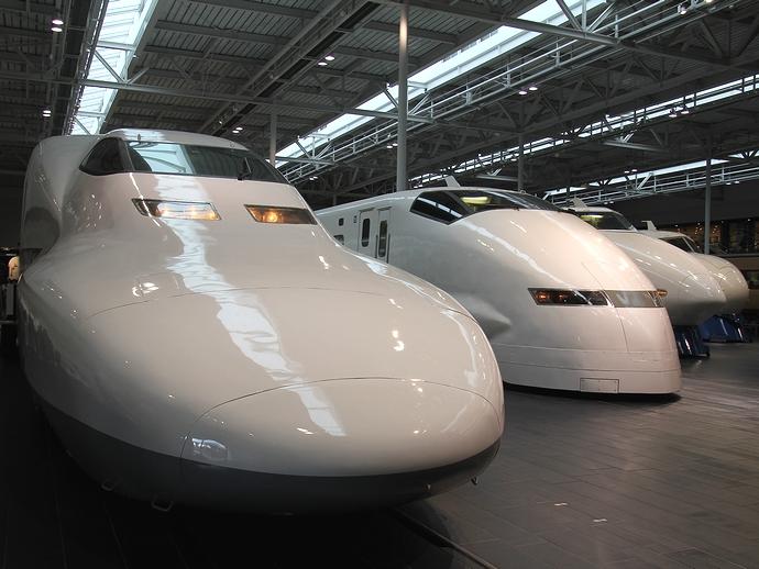 名古屋のリニア・鉄道館 歴代新幹線