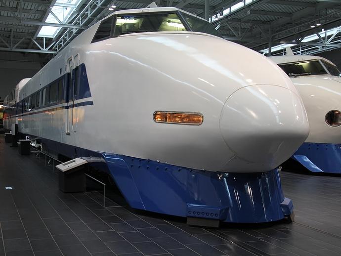 100系の展示車両(リニア・鉄道館にて)