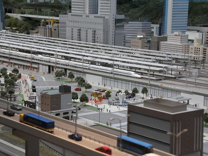 ジオラマで再現された名古屋(リニア・鉄道館)